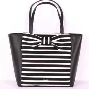 SALE kate spade Savannah olive drive stripe tote